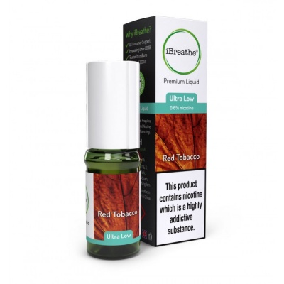 RED TOBACCO iBreathe Premium E-Liquid 10ml